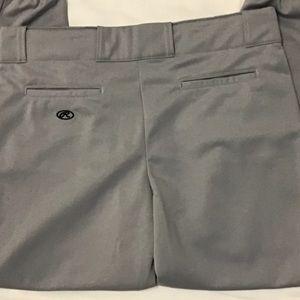 NWT Rawlings XL Men's Grey Baseball Pants